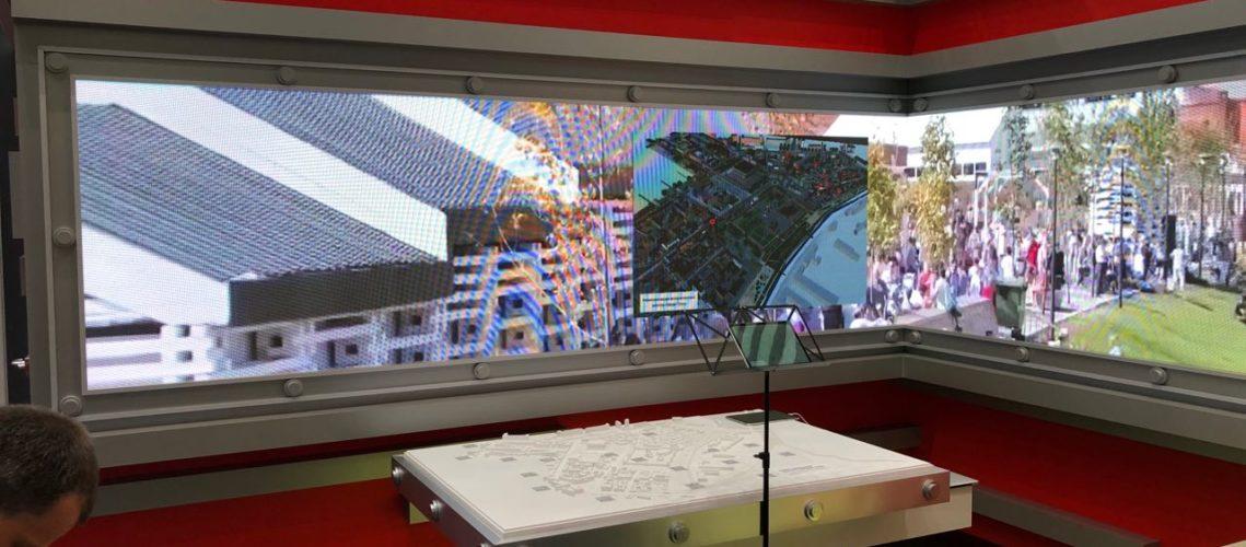 Обеспечение работы, аренда выставочного светодиодного экрана высокой четкости для стенда Тульской области на Международном экономическом форуме в Санкт-Петербурге в 2019 году